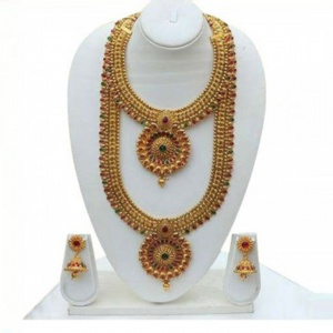 Kundan Gold-Plated Double Necklace Set