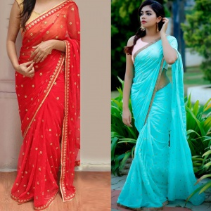 Combo Of Two Beautiful Sarees