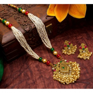 Gold And White Artificial Imitation Jewellery Sets